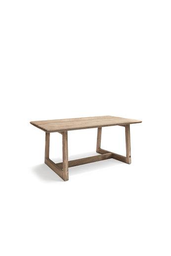 Gommaire Table de bar Dennis Small   Teck récupéré gris naturel