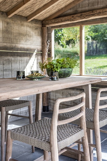 Gommaire Bar Table Dennis Small | Reclaimed Teak Natural Grey
