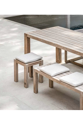 Gommaire Bench Sandy Large | Reclaimed Teak Natural Gray