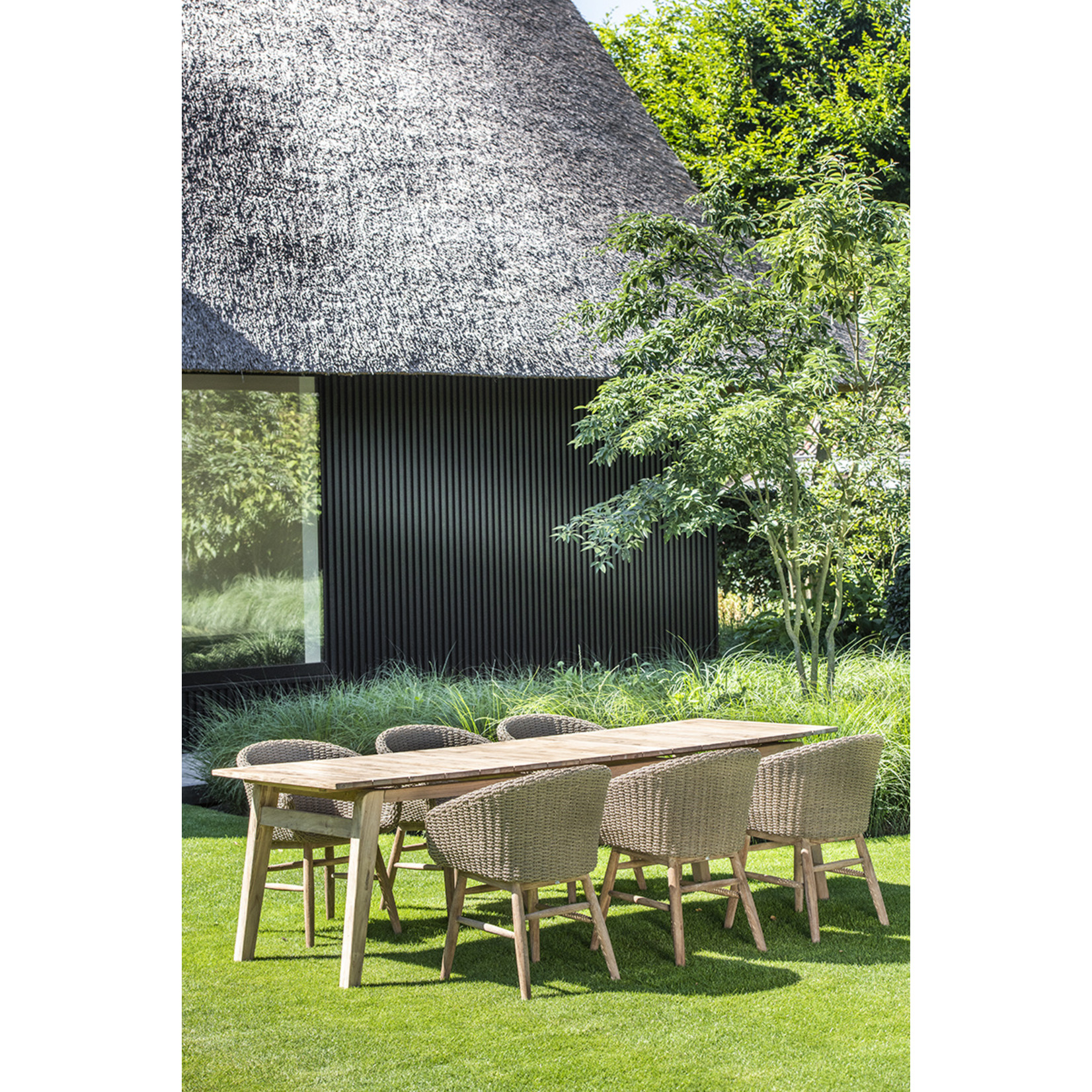 Gommaire Armchair Charly | Reclaimed Teak Natural Grey / PE Wicker Antique Weed