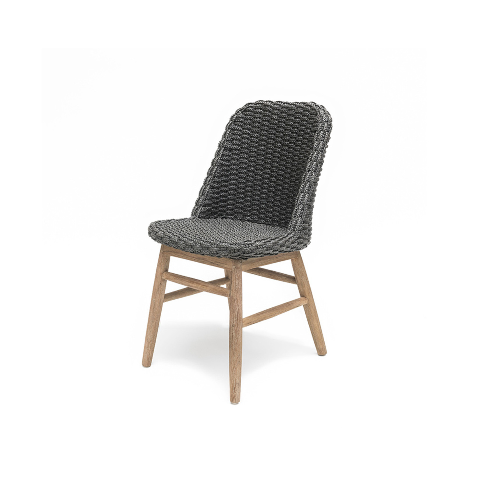Gommaire Chair Sienna | Reclaimed Teak Natural Grey / PE Wicker Charcoal