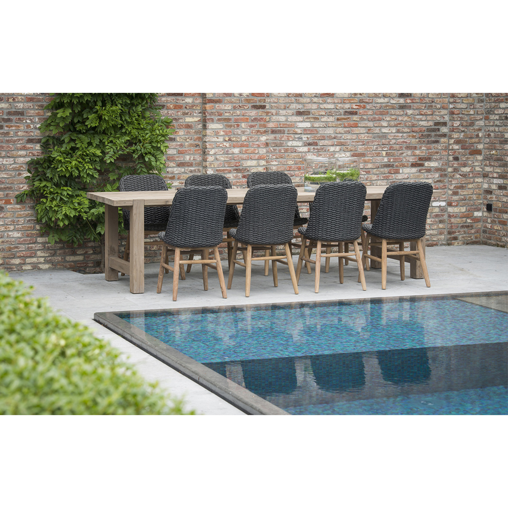 Gommaire Chair Sienna | Reclaimed Teak Natural Gray / PE Wicker Charcoal
