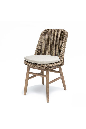 Gommaire Chair Sienna   Reclaimed Teak Natural Gray / PE Wicker Natural