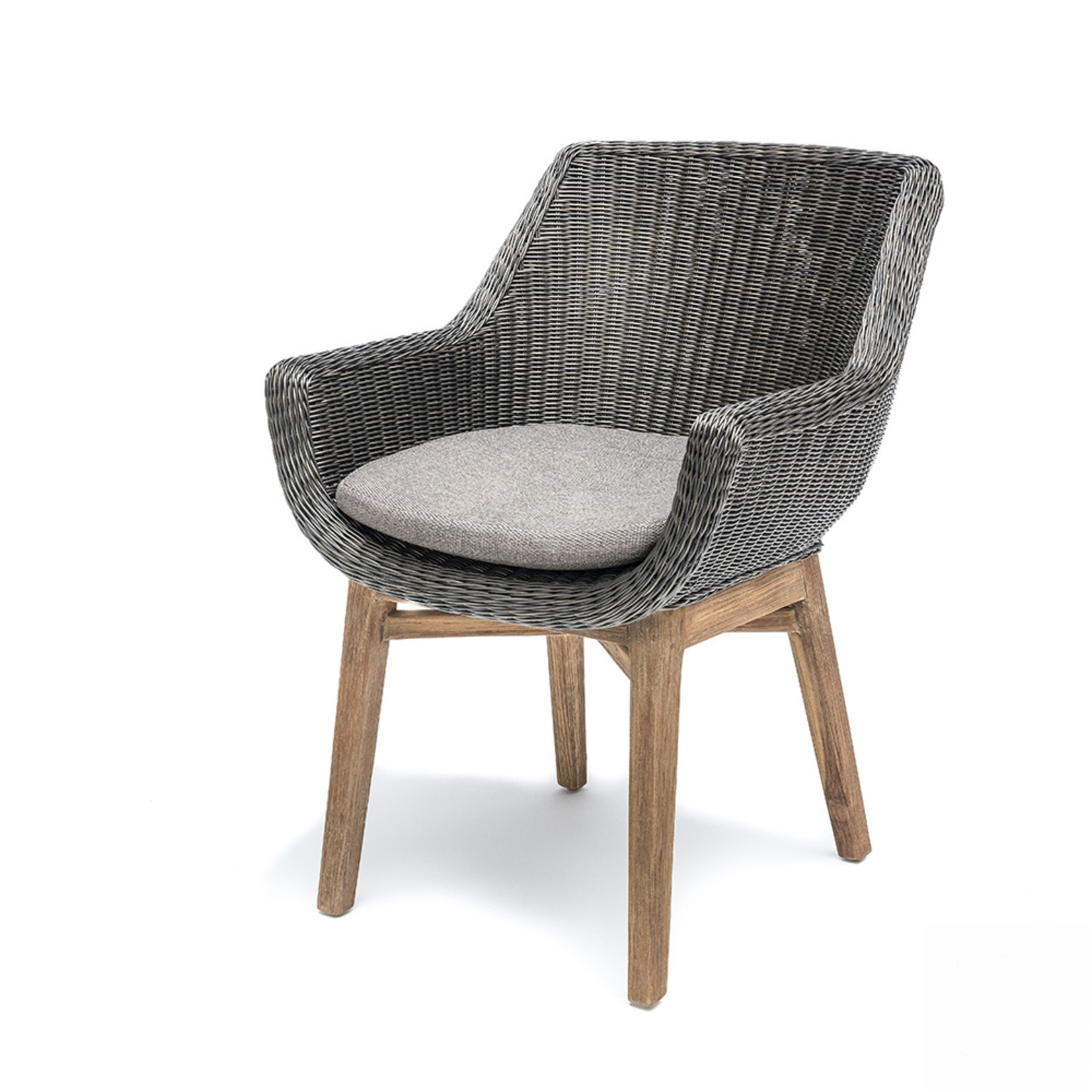 Gommaire Armchair Jacky | Teak Natural Grey / PE Wicker Charcoal