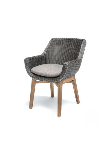 Gommaire Armchair Jacky | Teak Natural Gray / PE Wicker Charcoal