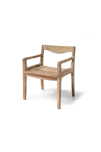 Gommaire Armchair Curve | Reclaimed Teak Natural Grey