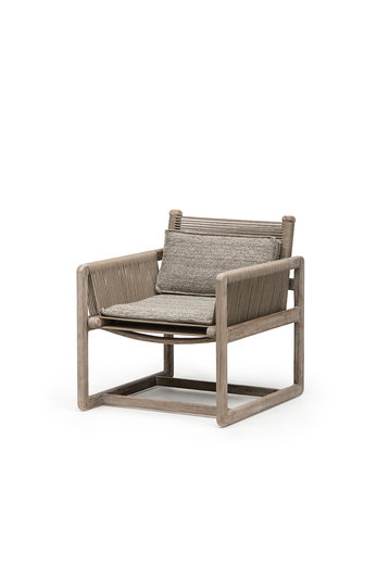 Gommaire Easy Chair Carlo   Teak Natural Gray / Rope