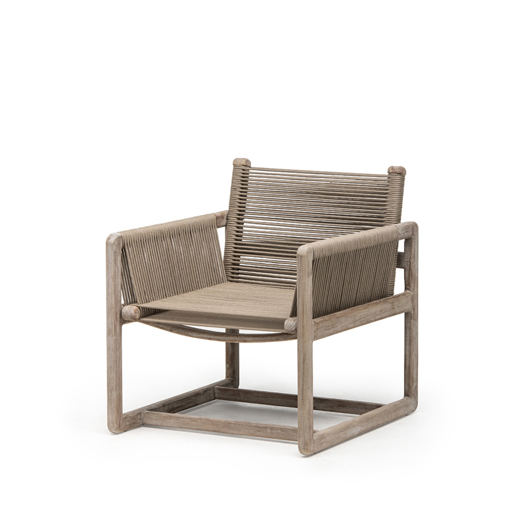 Gommaire Easy Chair Carlo | Teak Natural Gray / Rope