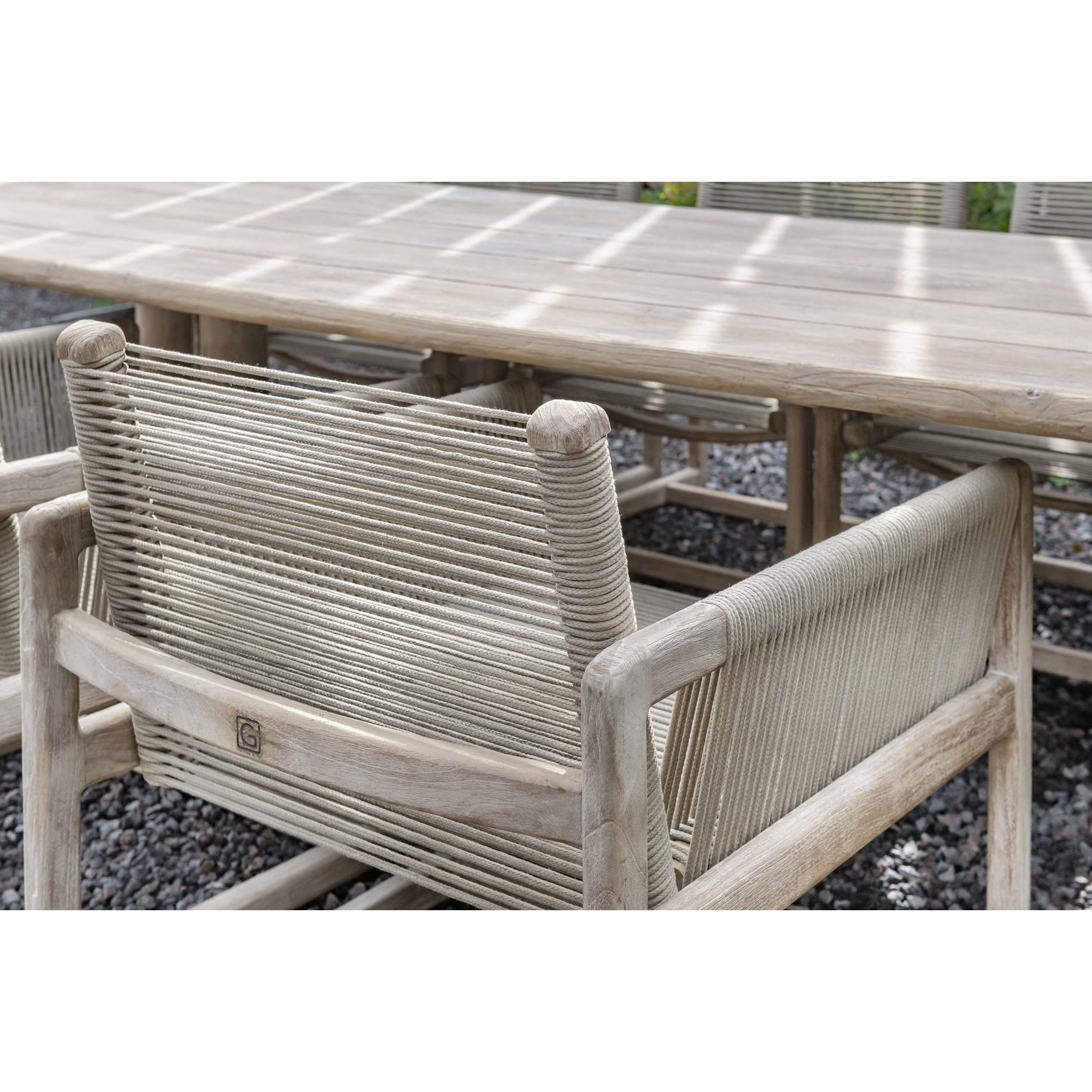 Gommaire Easy Chair Carlo | Teak Natural Grey / Rope