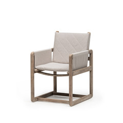 Gommaire Armchair Carlo | Teak Natural Grey / Canvas