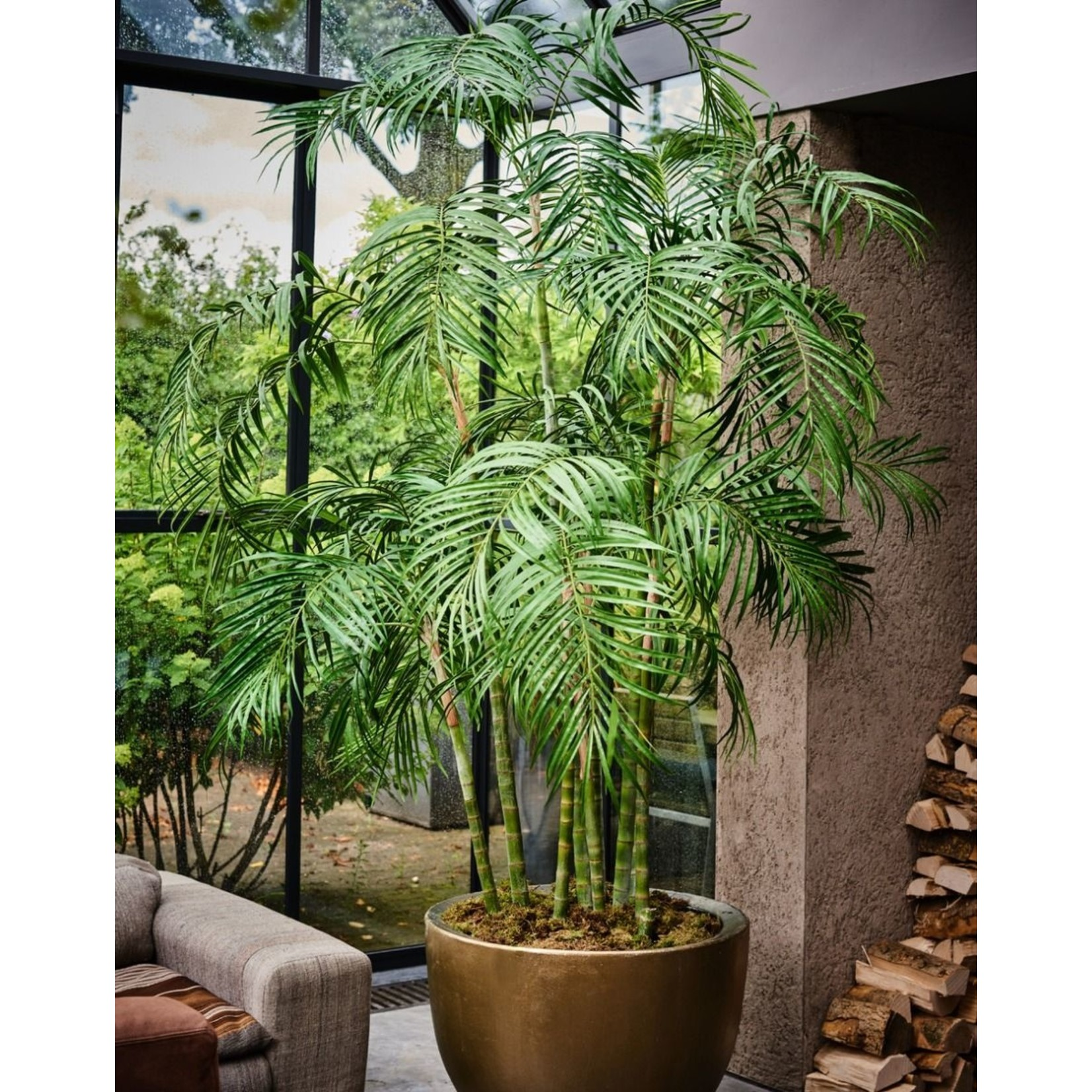Silk-ka Plant Palm Groen | 210 cm