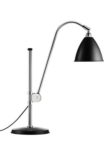 Gubi Lampe de table BL1 - Ø16   Base chromée et abat-jour noir semi-mat