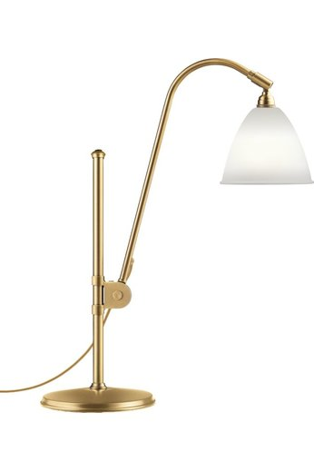 Gubi Lampe de table BL1 - Ø16 | Base en laiton et abat-jour en porcelaine