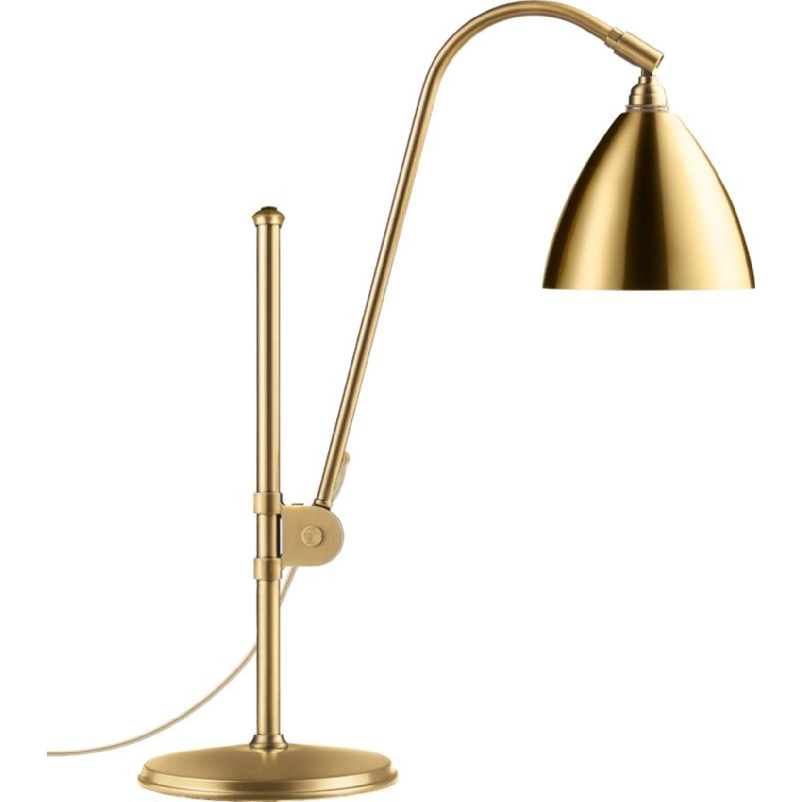 Gubi Lampe de table BL1 - Ø16 | Base en laiton et abat-jour en laiton brillant