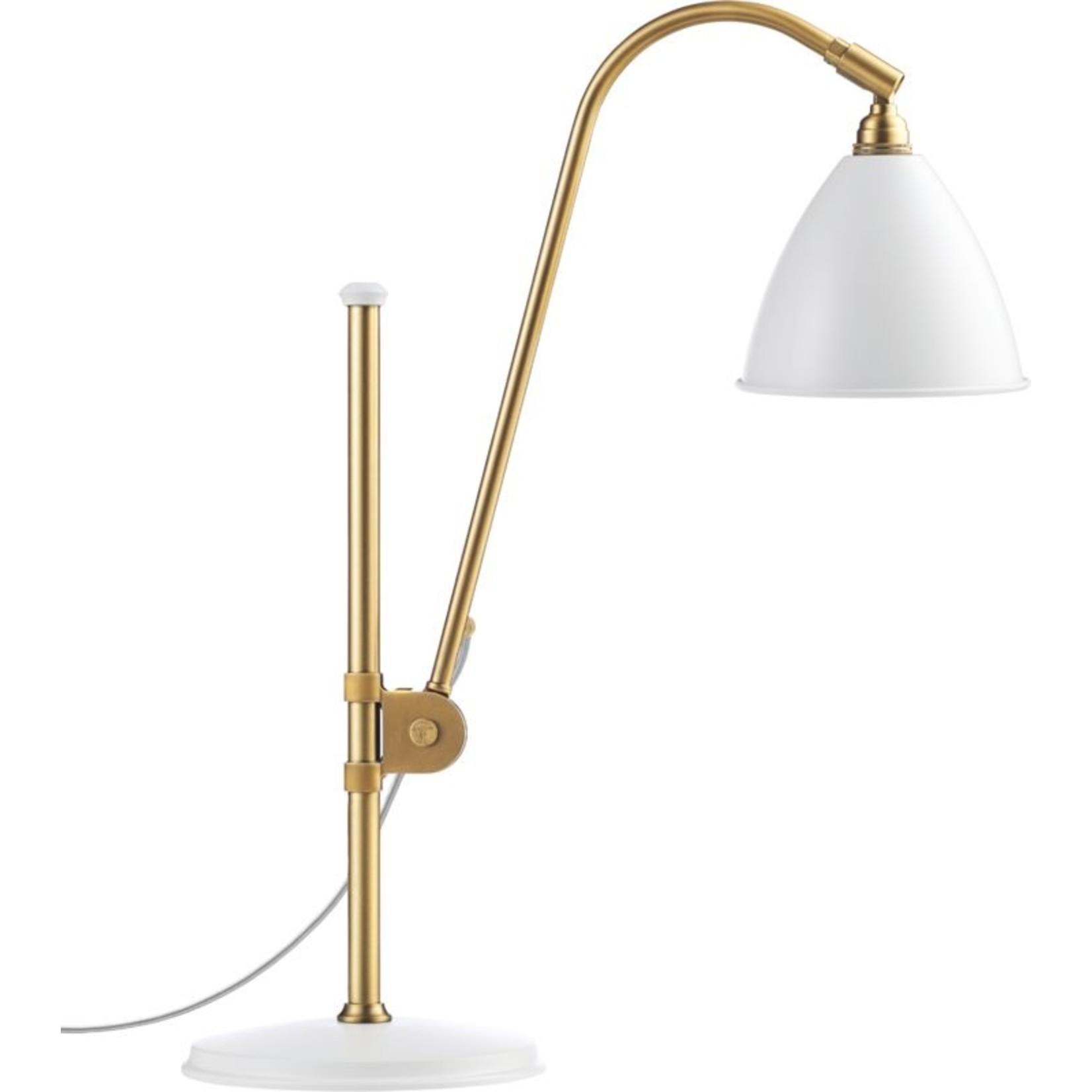 Gubi BL1 Table Lamp - Ø16 | Brass Base & Soft White Semi Matt Shade