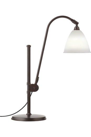 Gubi Lampe de table BL1 - Ø16 | Base en laiton noir et abat-jour en porcelaine