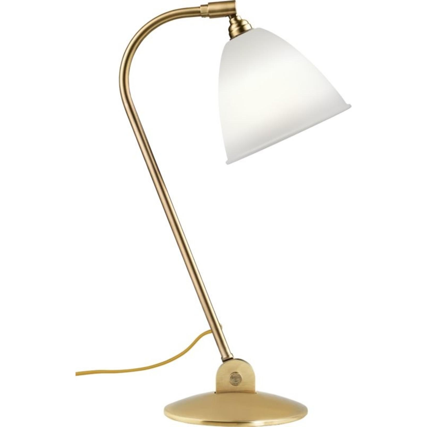 Gubi BL2 Table Lamp - Ø16 | Brass Base & Bone China Shade
