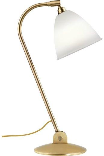 Gubi BL2 Table Lamp - Ø16   Brass Base & Bone China Shade