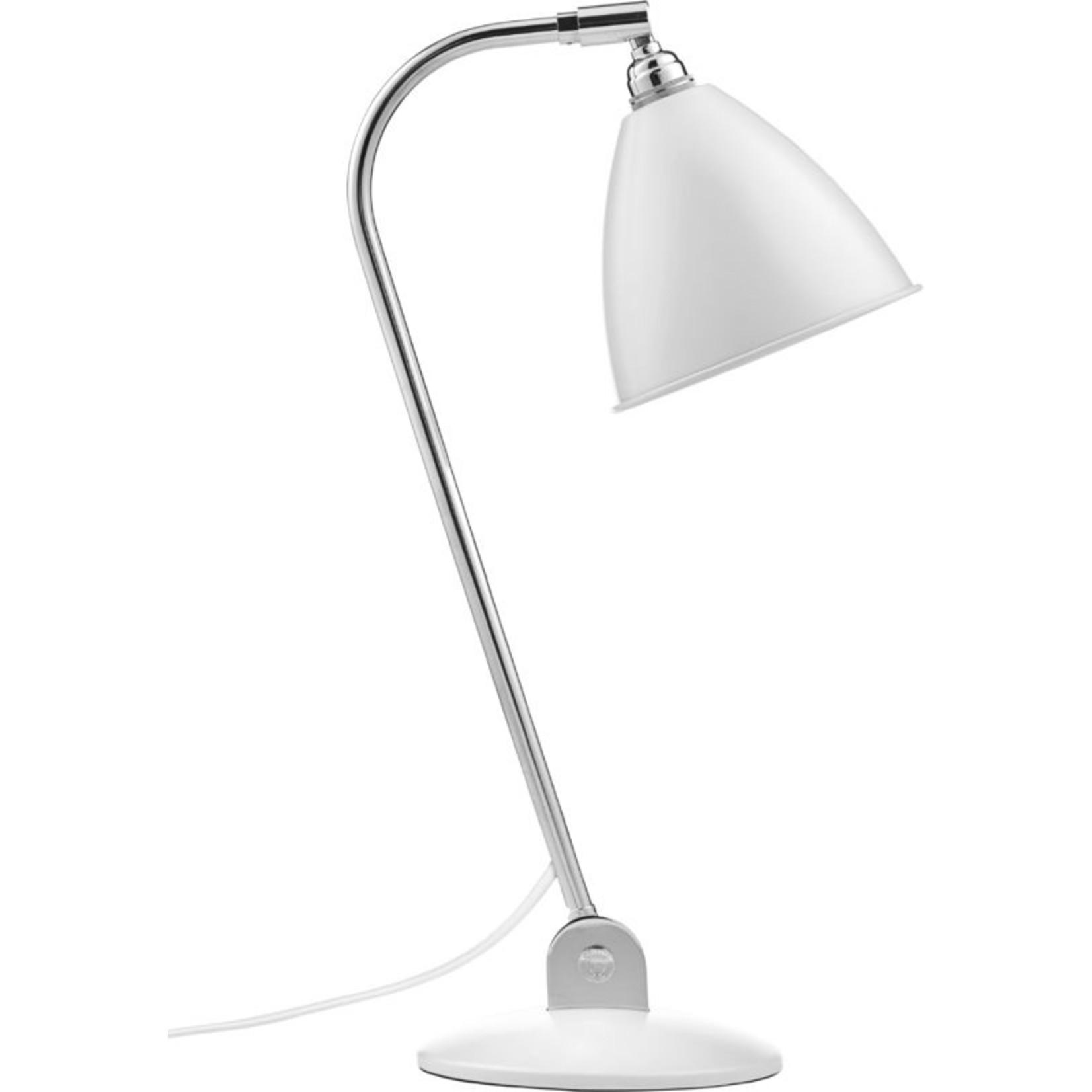 Gubi BL2 Table Lamp - Ø16 | Chrome Base & Soft White Semi Matt Shade