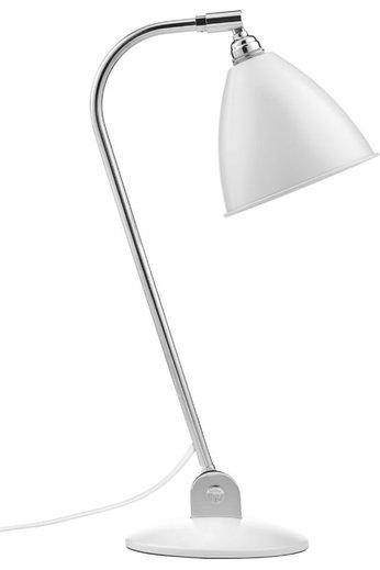 Gubi BL2 Table Lamp - Ø16   Chrome Base & Soft White Semi Matt Shade