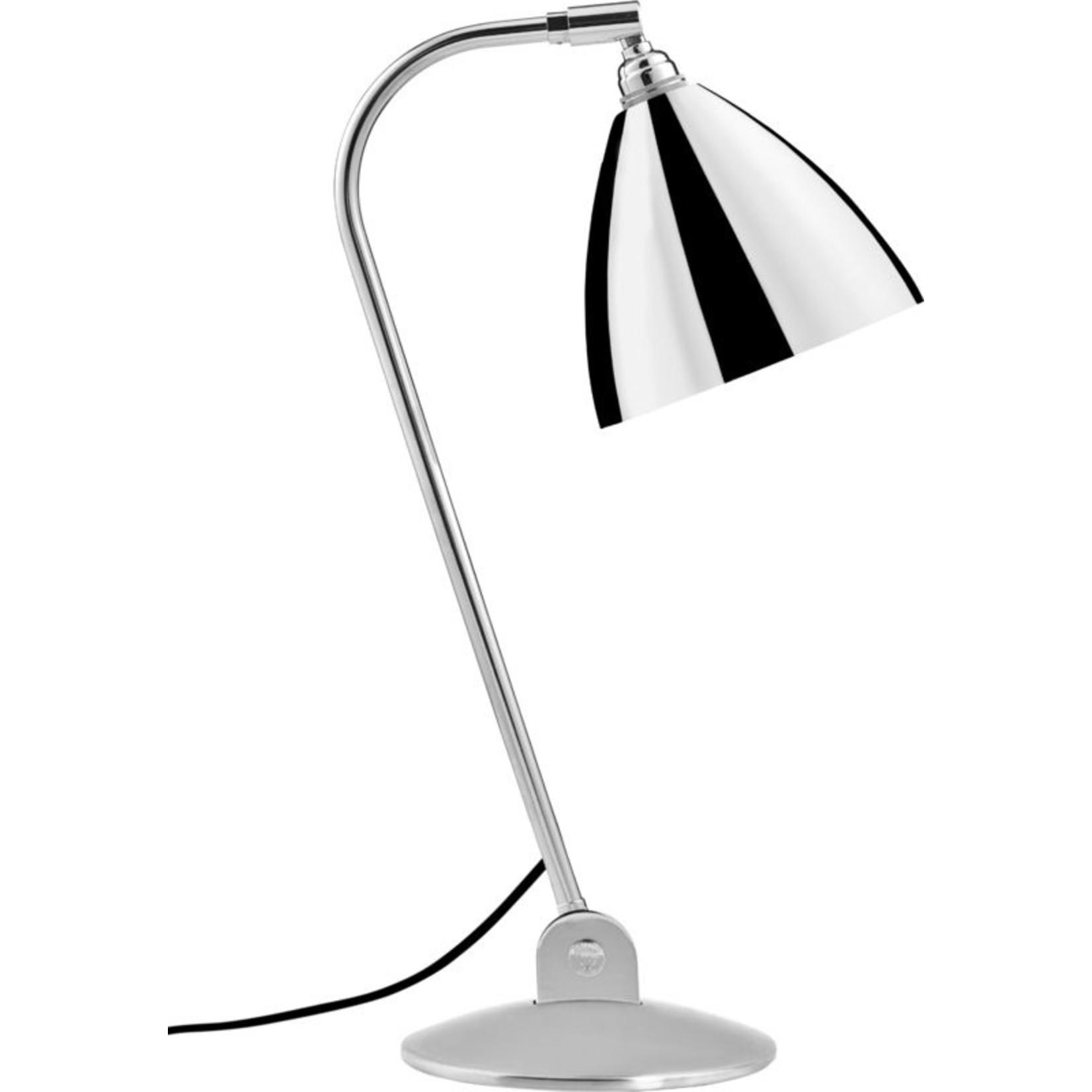 Gubi Lampe de table BL2 - Ø16 | Base chromée et abat-jour chromé