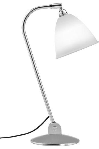Gubi Lampe de table BL2 - Ø16 | Base chromée et abat-jour en porcelaine
