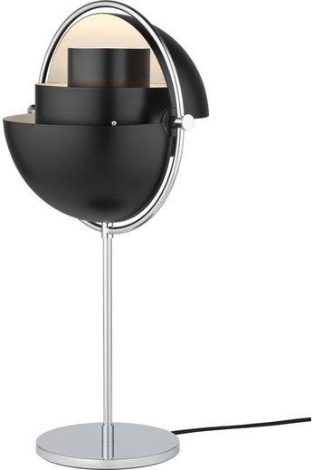 Gubi Lampe de table Multi-Lite | Base chromée et abat-jour noir semi-mat