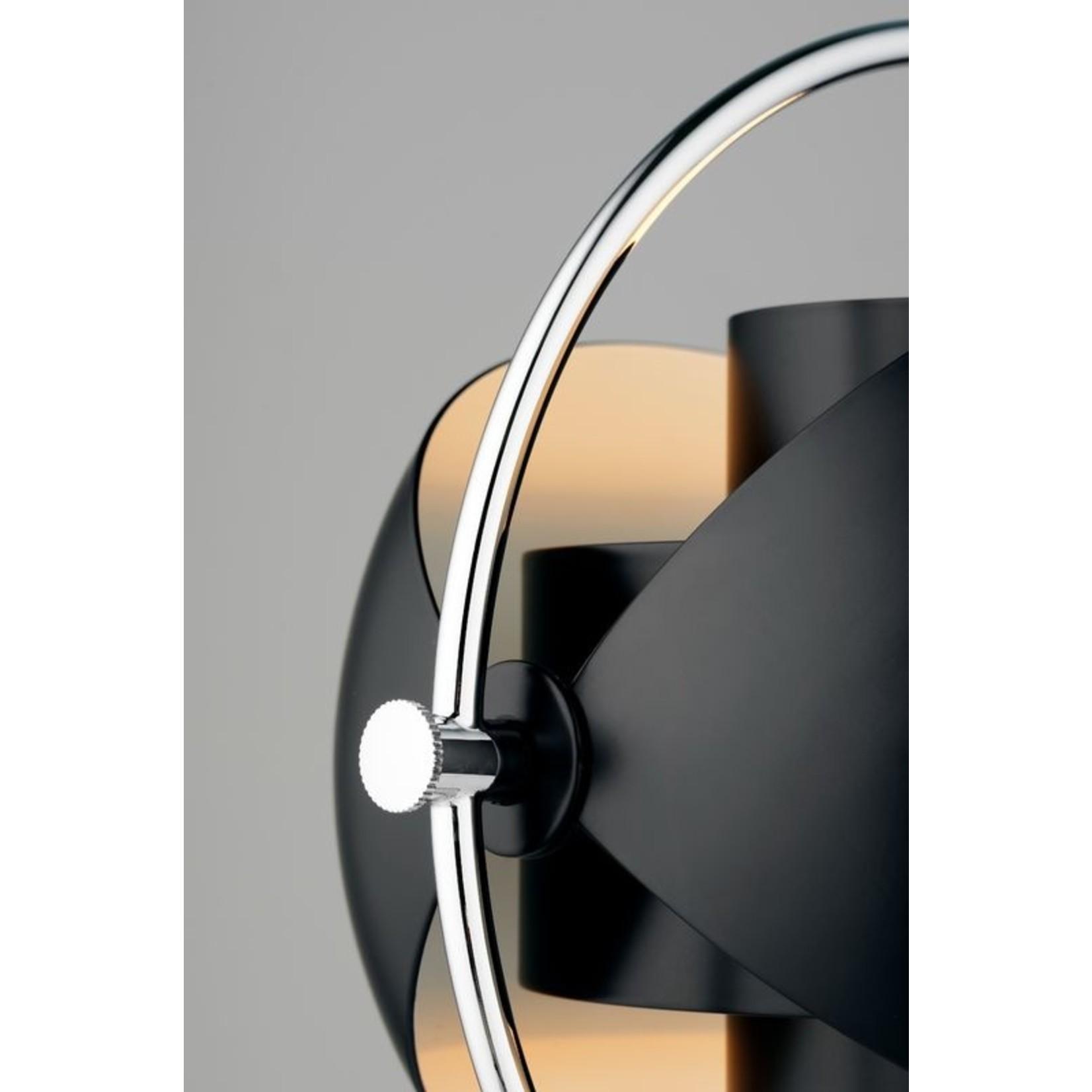 Gubi Lampe de table Multi-Lite   Base chromée et abat-jour noir semi-mat