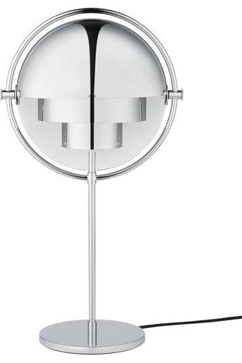 Gubi Lampe de table Multi-Lite | Base chromée et abat-jour chromé