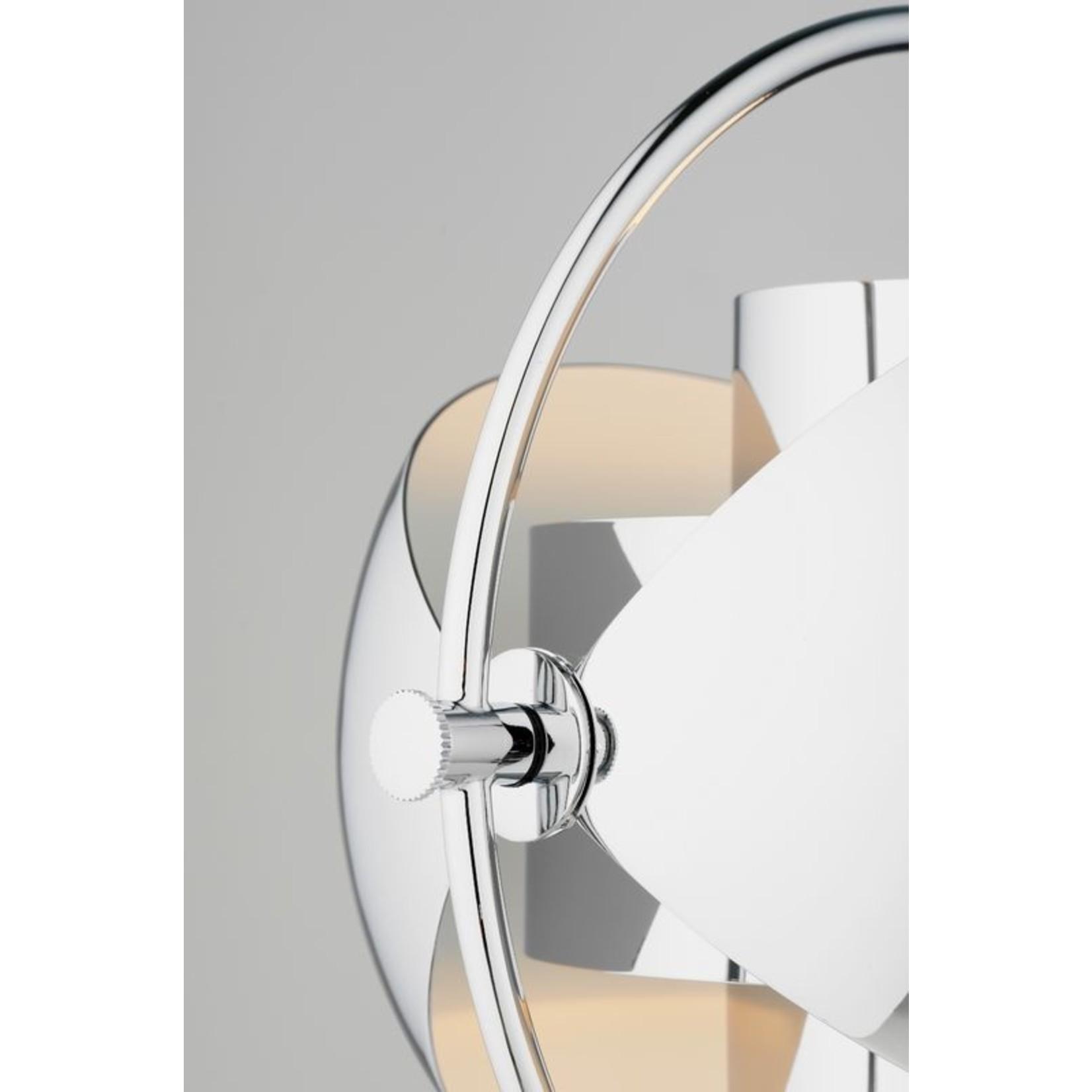 Gubi Multi-Lite Table Lamp   Chrome Base & Chrome Shade