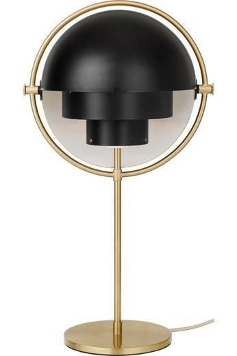 Gubi Multi-Lite Table Lamp | Brass Base & Black Semi Matt Shade