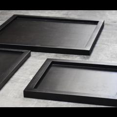 Tray black 60 x 60