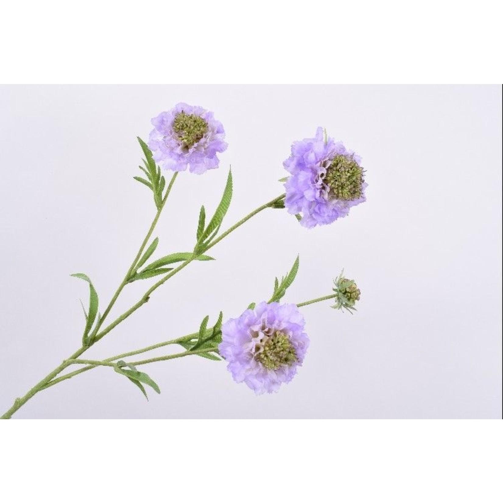 Silk-ka Scabiosa Branch Lavender | 80 cm
