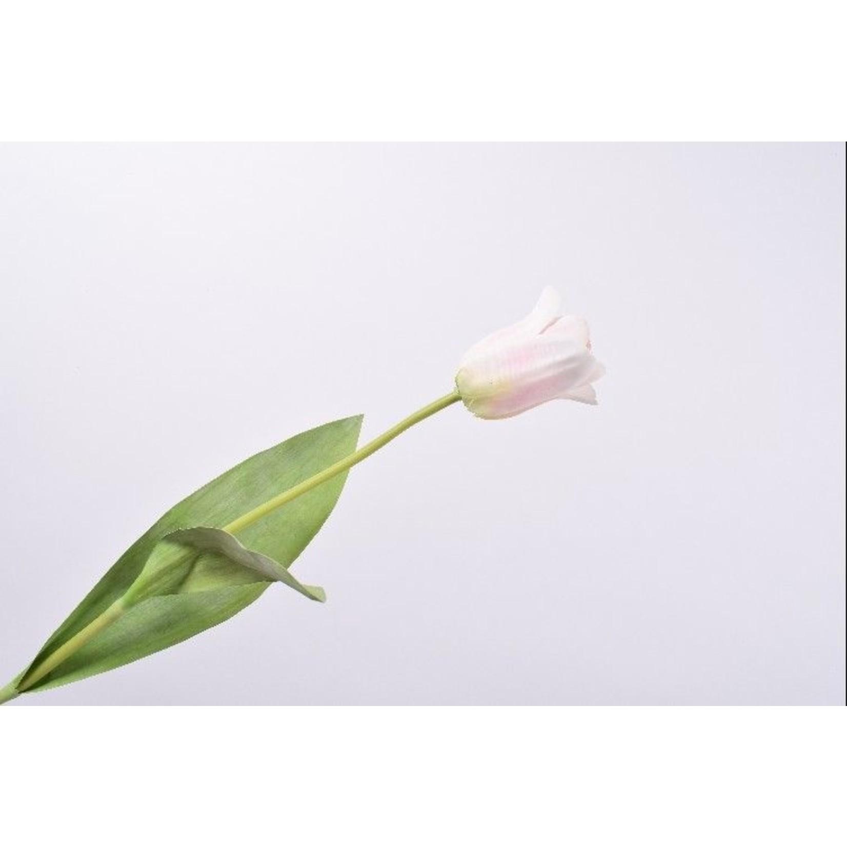 Silk-ka Tige de tulipe blanc / rose   61 cm