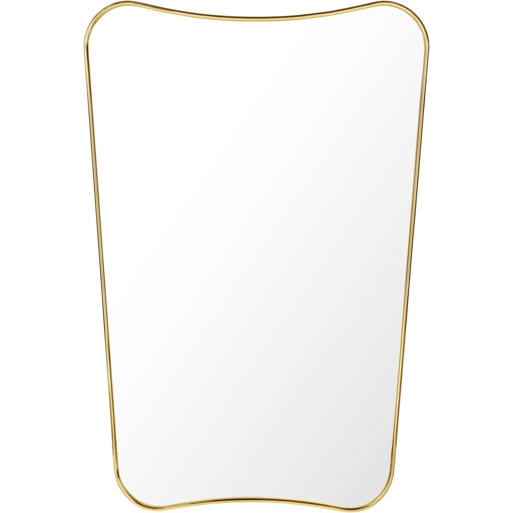 Gubi Wall mirror FA 33 - 54x80 - Polished Brass