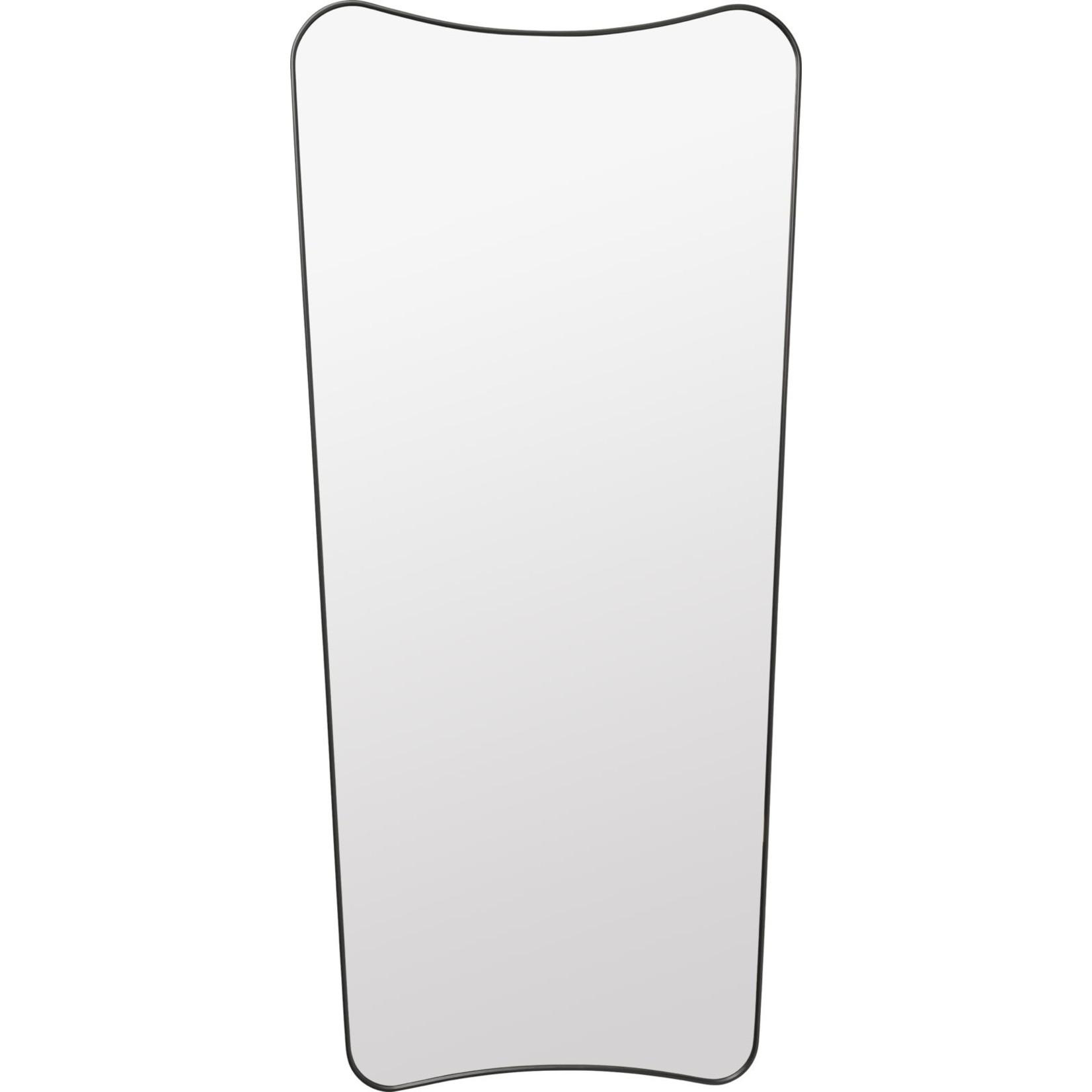 Gubi Wall mirror FA 33 - 69x146 - Black Brass