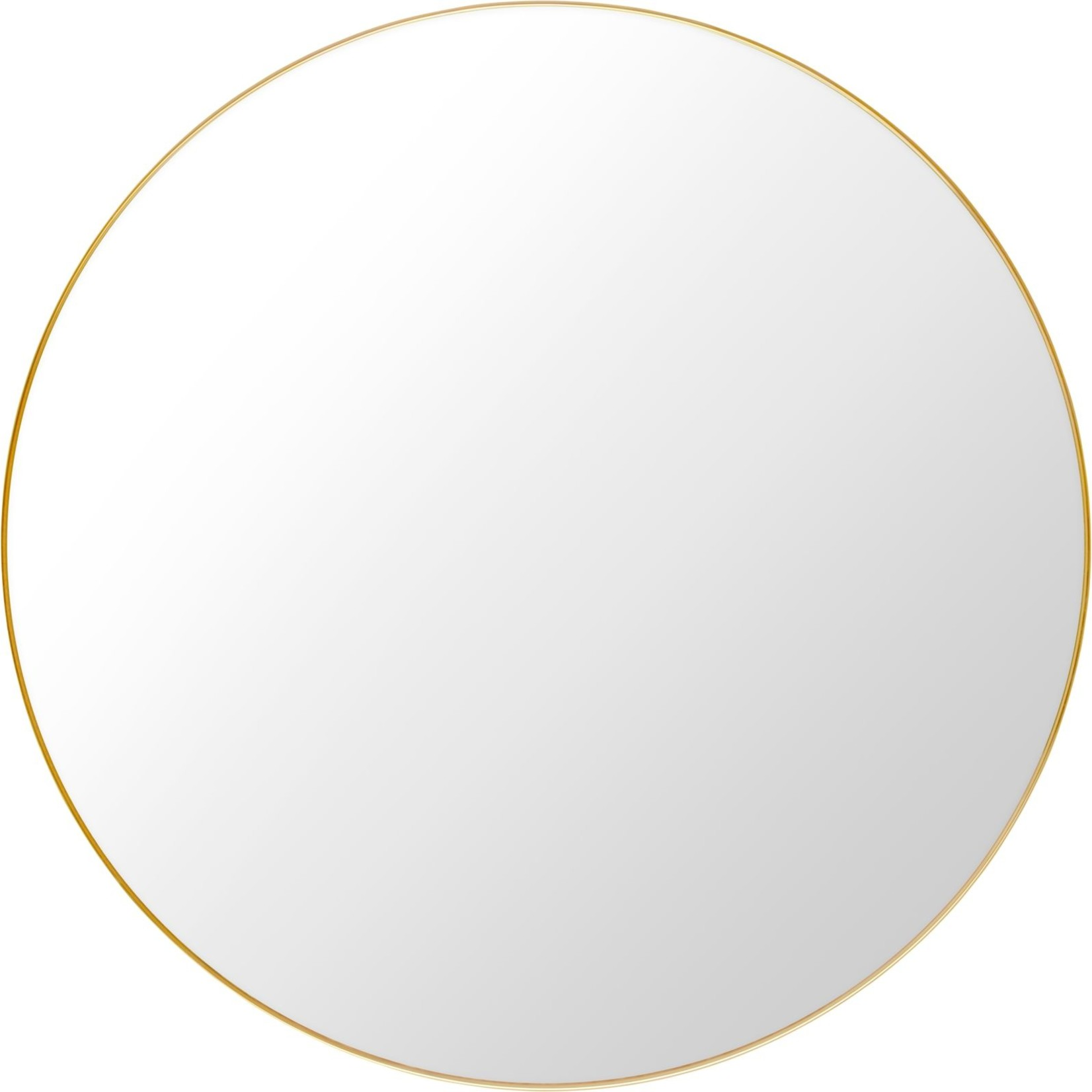 Gubi Wall mirror - Round - Ø110 - Polished Brass