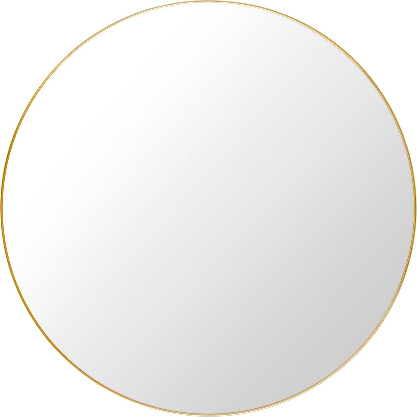 Gubi Wandspiegel - Rond - Ø110 - Polished Brass