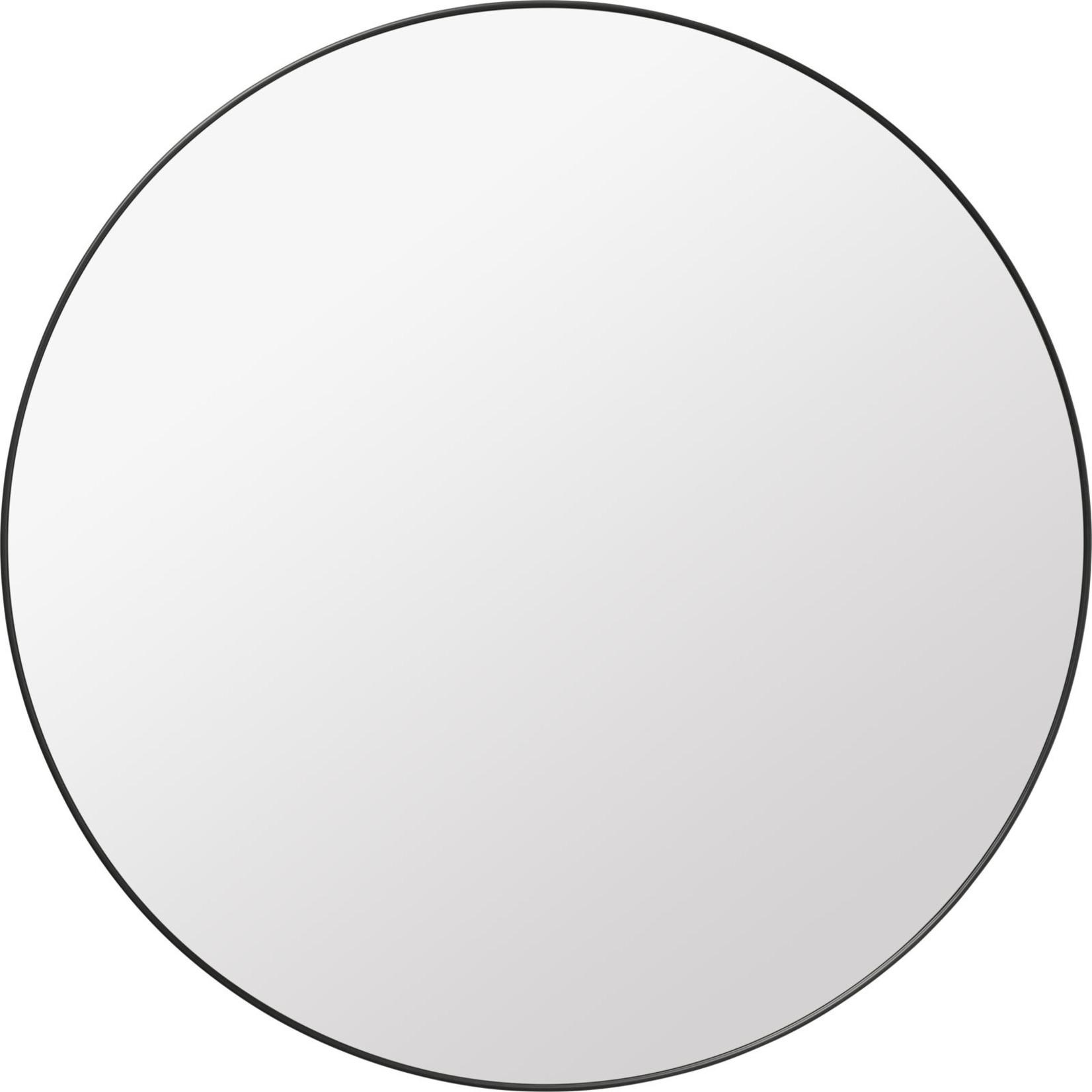 Gubi Wall mirror - Round - Ø110 - Black Brass