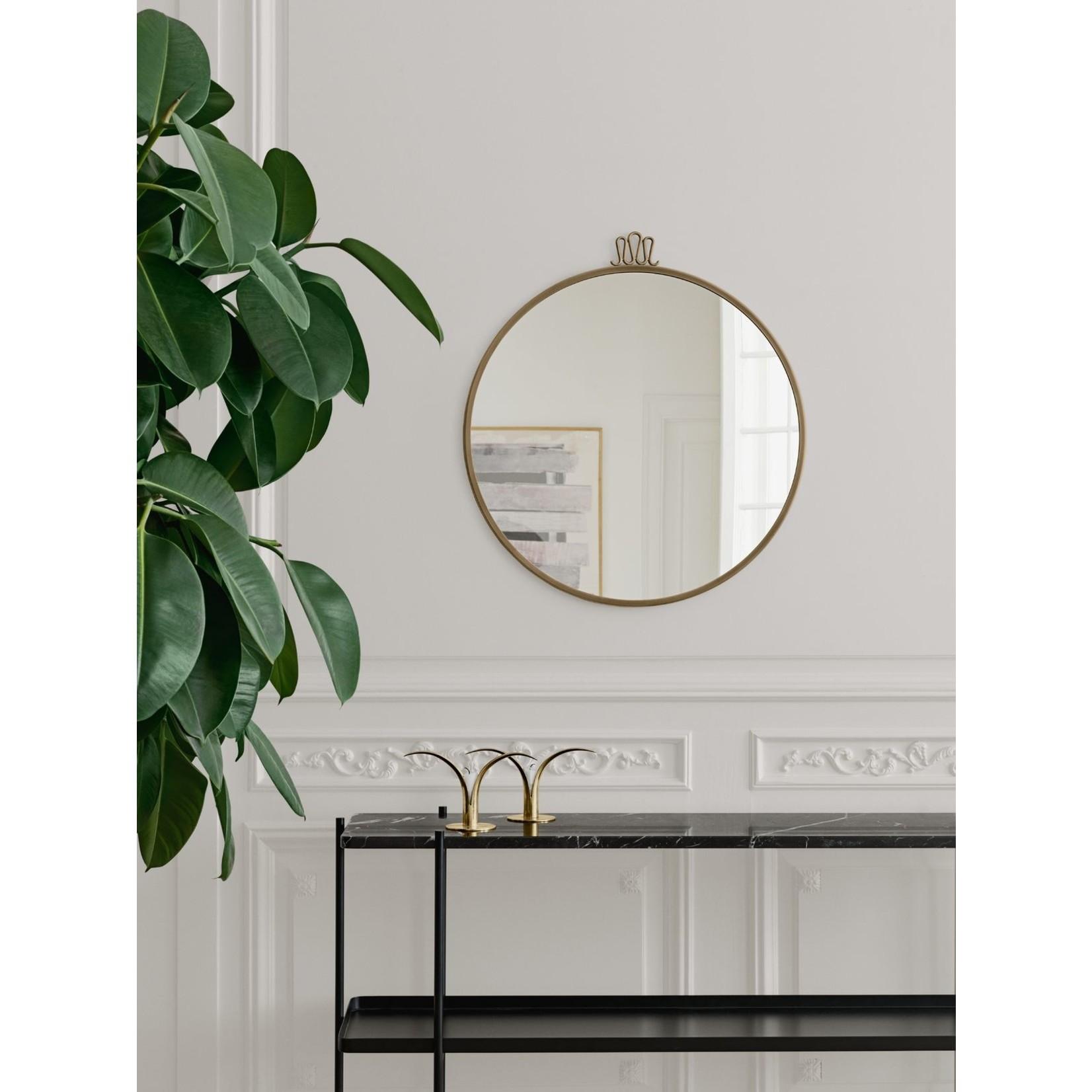 Gubi Wall mirror Randaccio - Round - Ø42 - Antique Brass