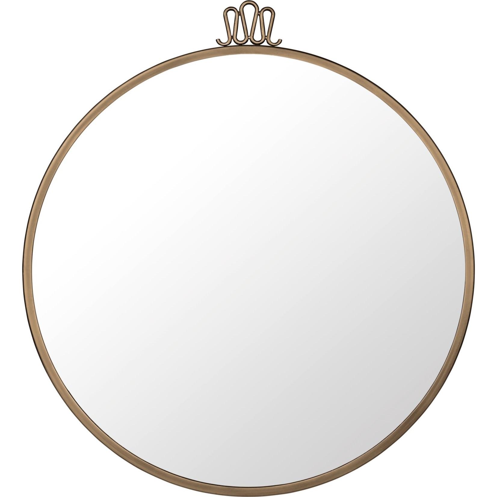Gubi Wall mirror Randaccio - Round - Ø60 - Antique Brass