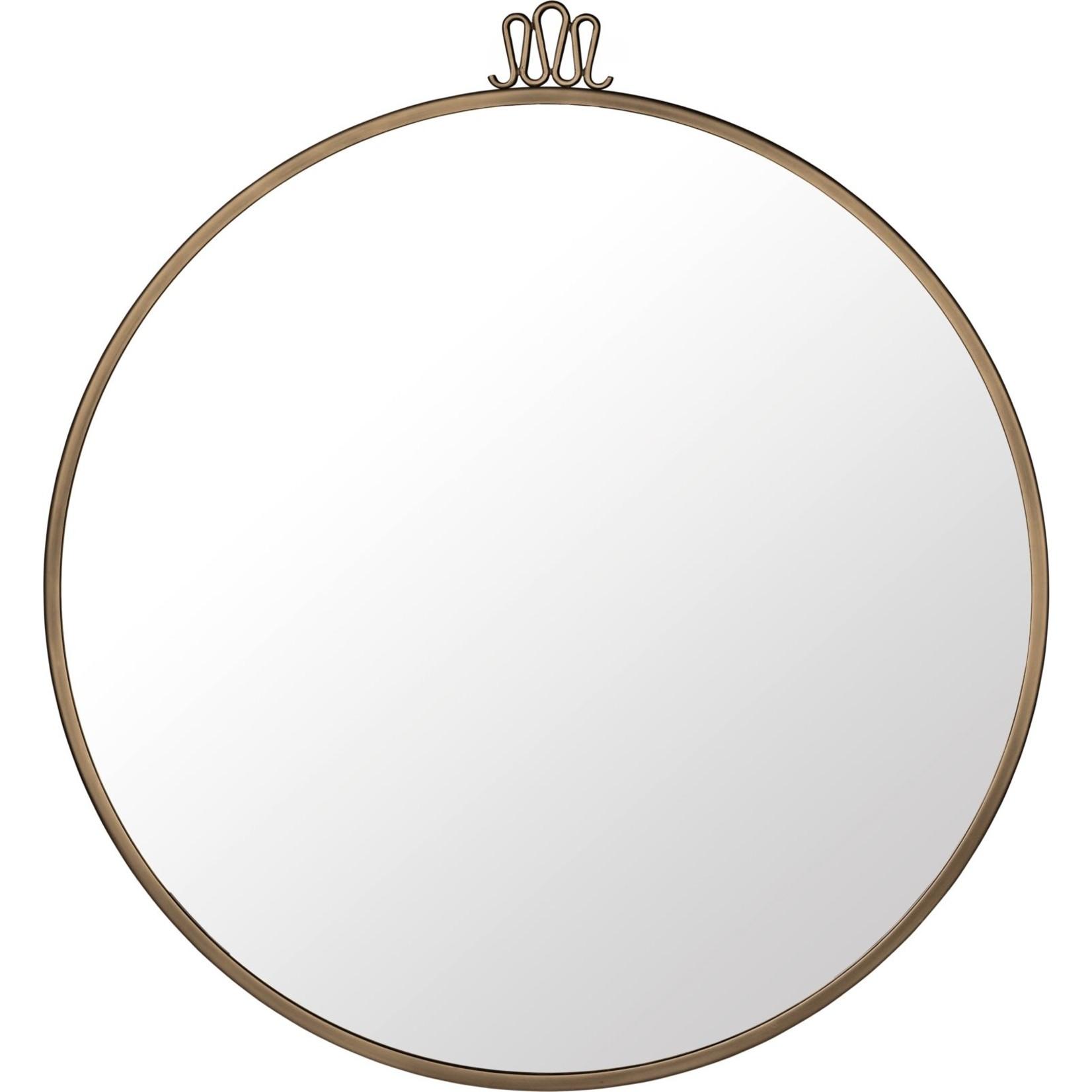Gubi Wall mirror Randaccio - Round - Ø70 - Antique Brass