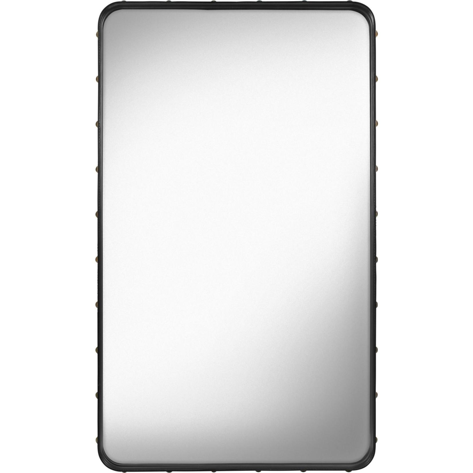 Gubi Wandspiegel Adnet - Rechthoekig - 65x115 - Black Leather