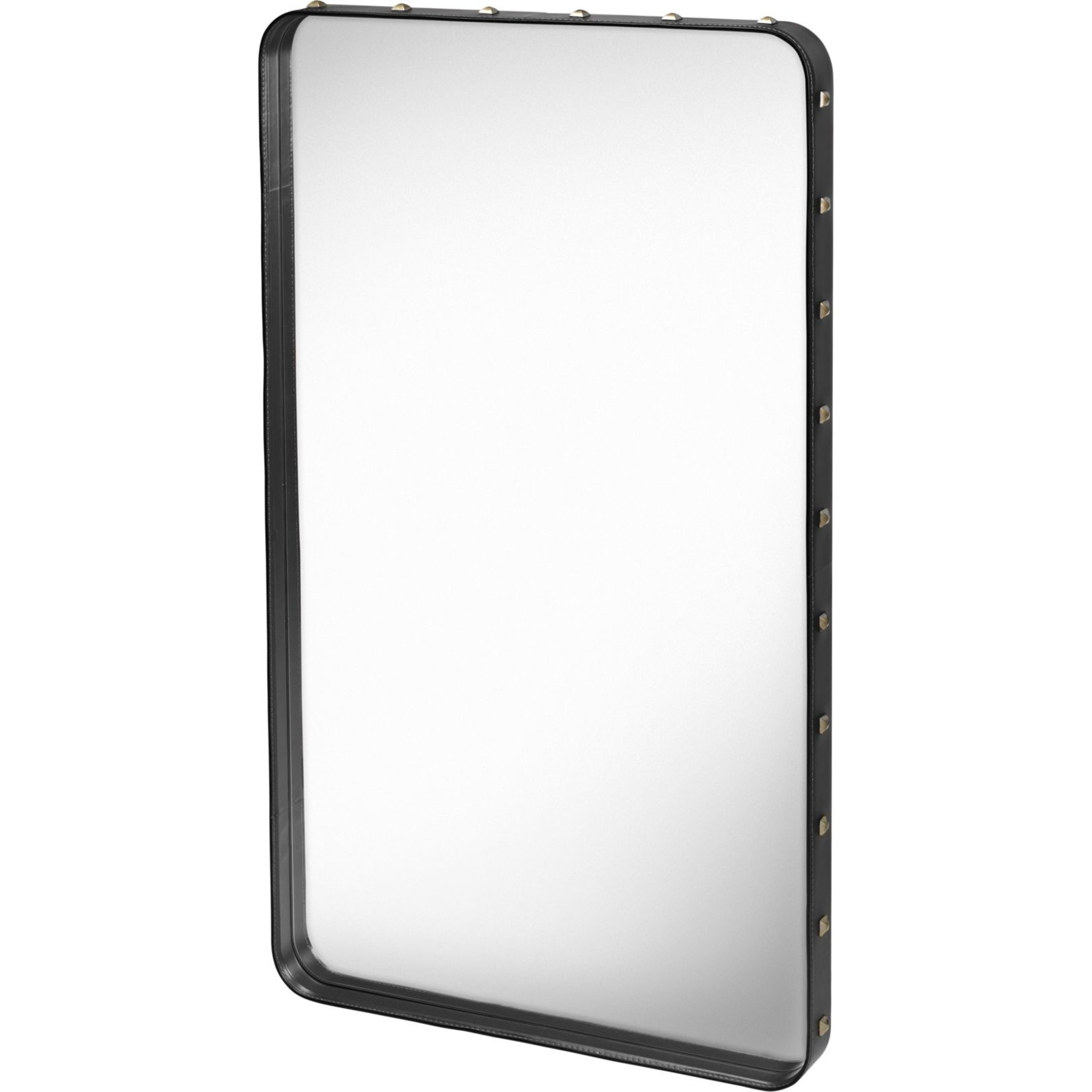 Gubi Wall mirror Adnet - Rectangular - 65x115 - Black Leather