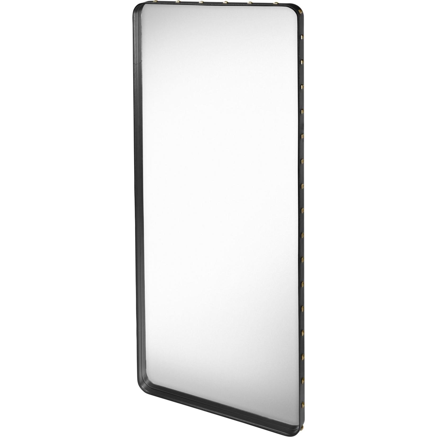 Gubi Wandspiegel Adnet - Rechthoekig - 70x180 - Black Leather