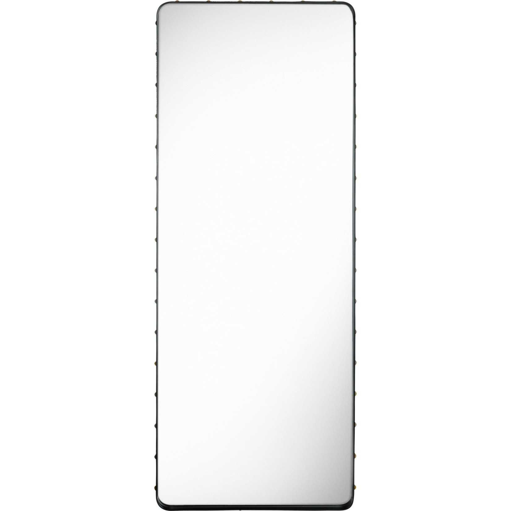 Gubi Wall mirror Adnet - Rectangular - 70x180 - Black Leather