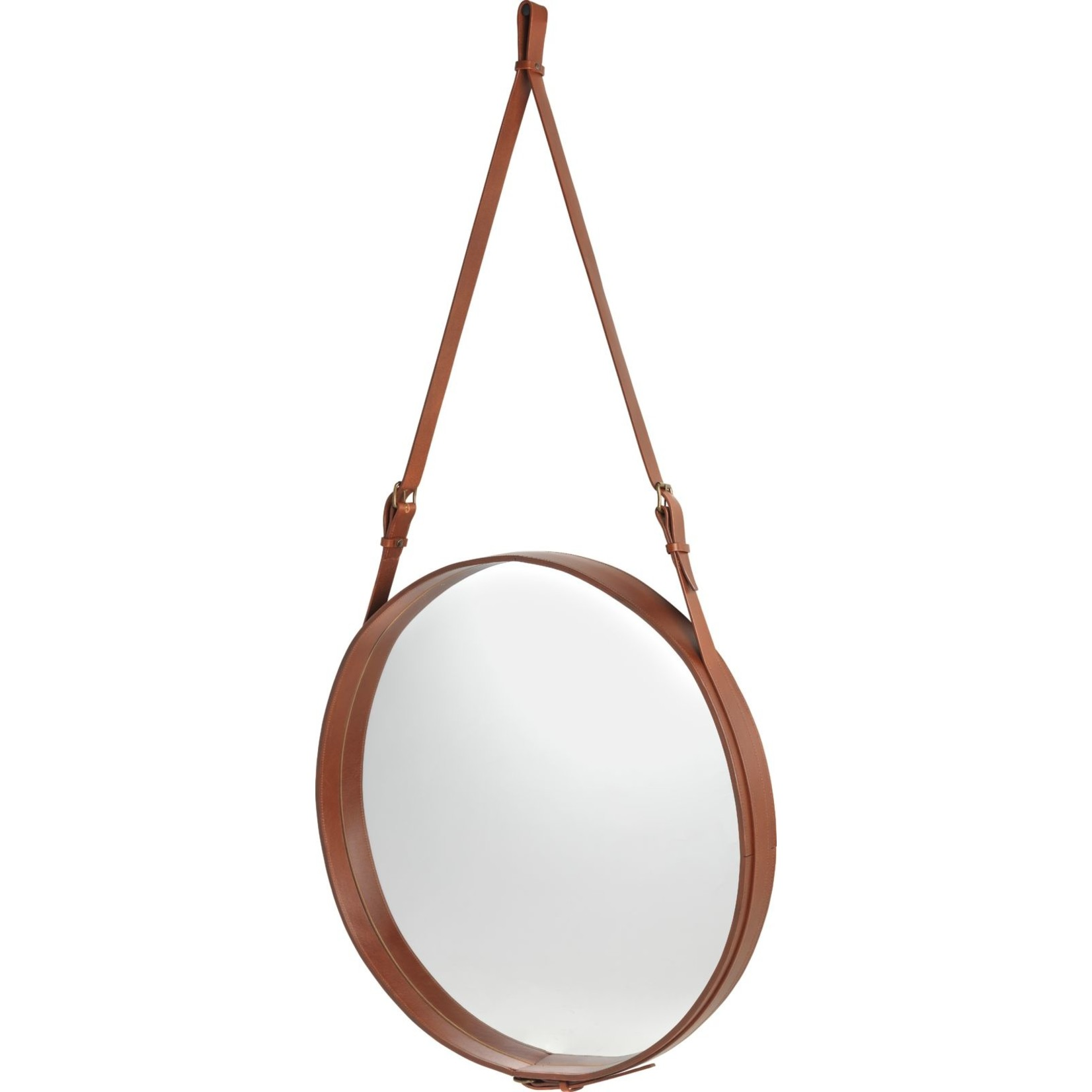 Gubi Wandspiegel Adnet - Rond - Ø70 - Tan Leather