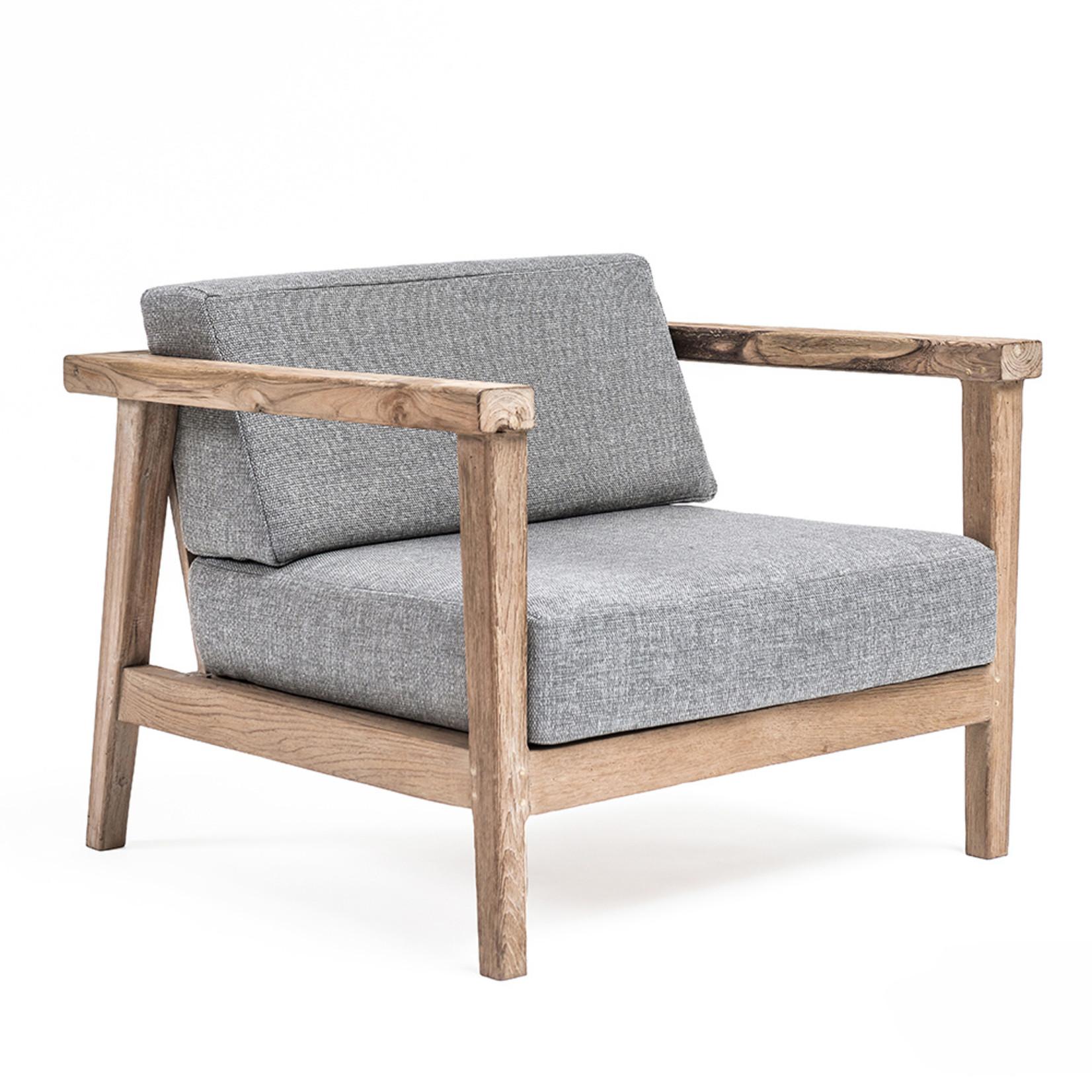 Gommaire 1-Seater Copenhague | Reclaimed Teak Natural Grey + Cushion