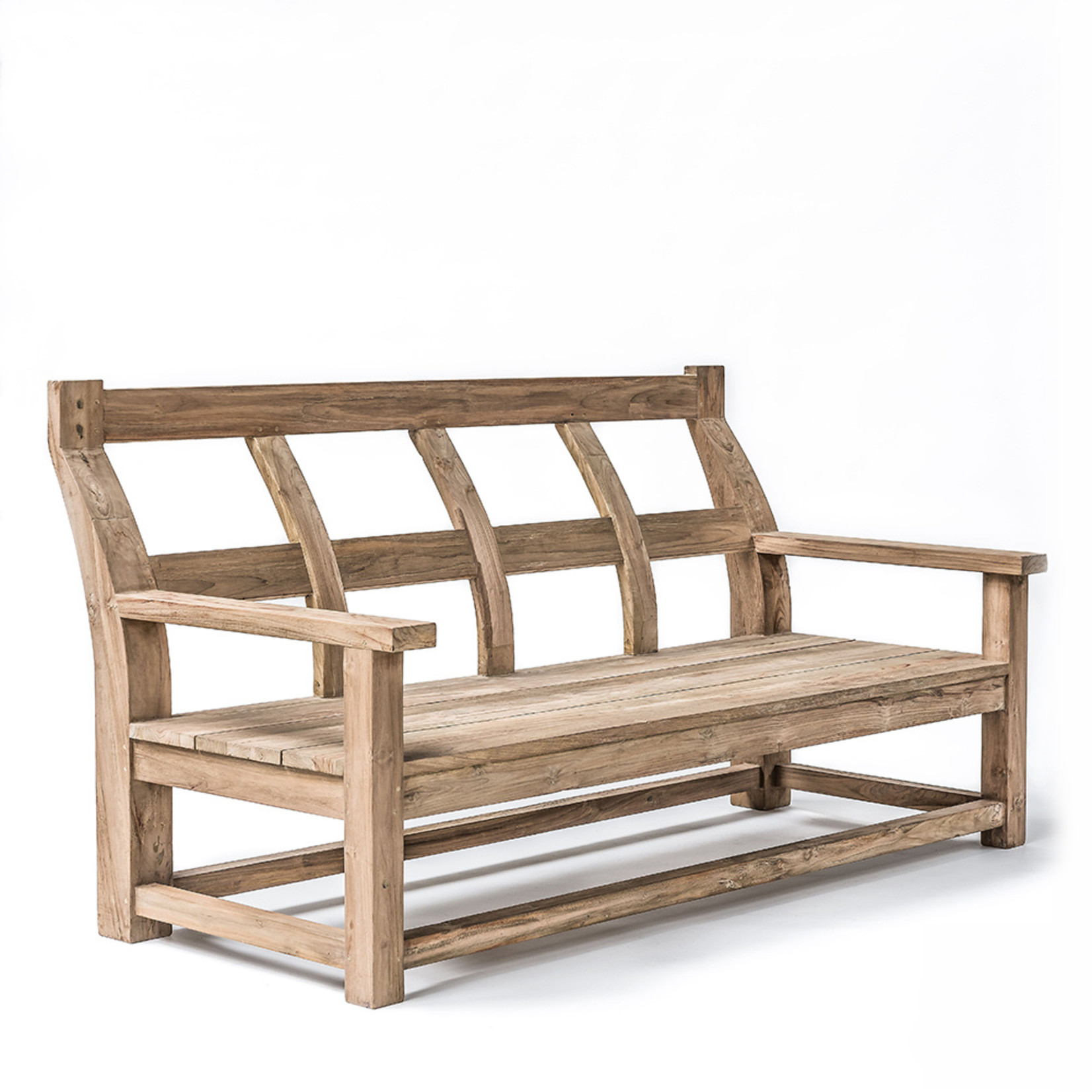 Gommaire Bench Gustave Small | Reclaimed Teak Natural Grey