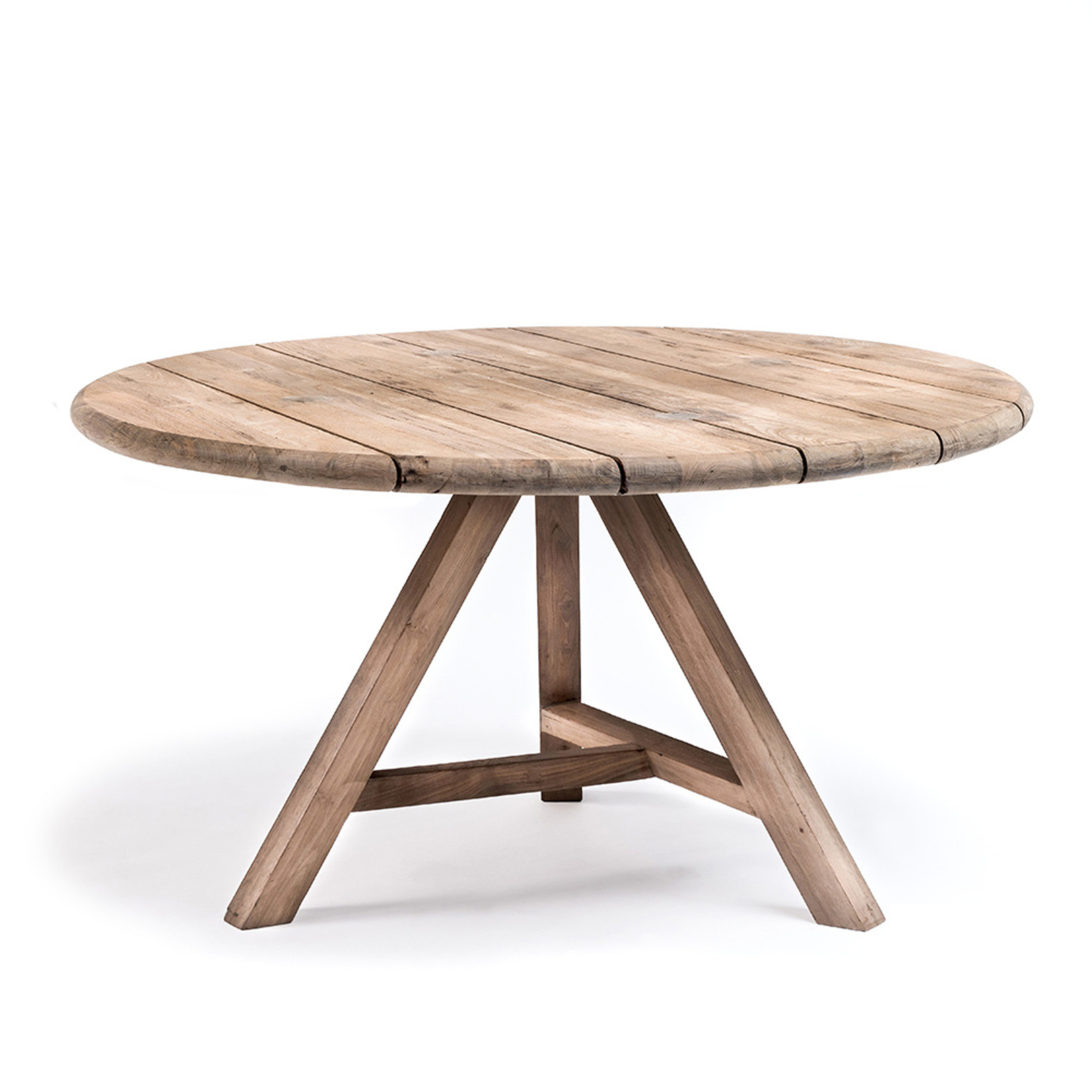 Gommaire Round Table Anton Large | Reclaimed Teak Natural Grey